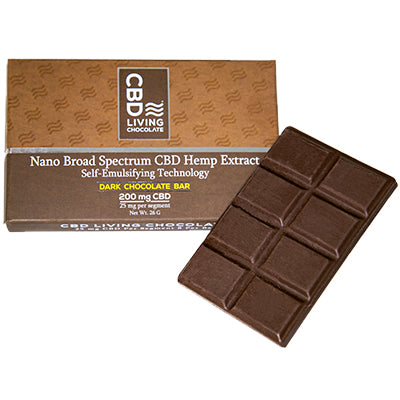 CBD Chocolate Bar - Dark - 200mg