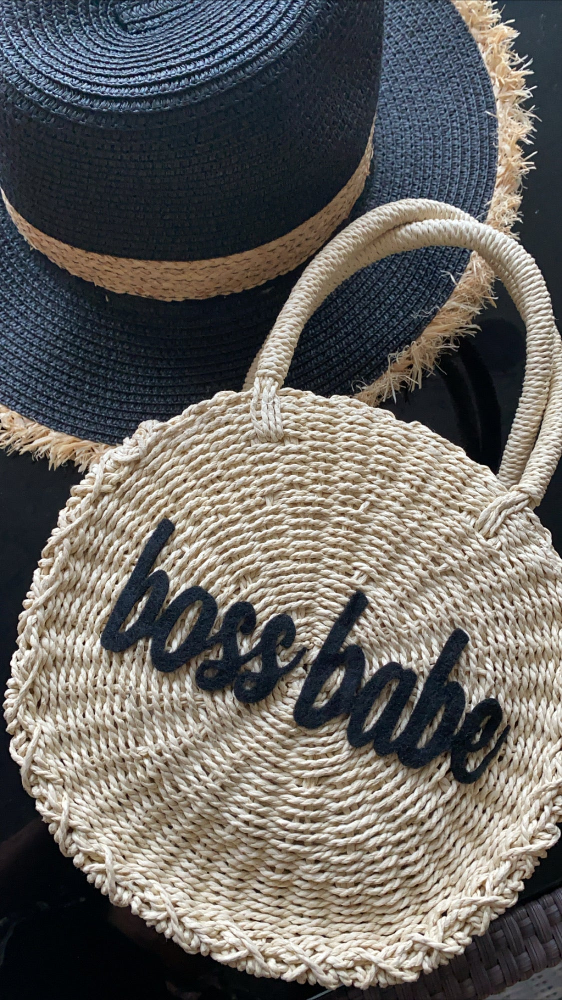 PERSONALIZED STRAW BAG
