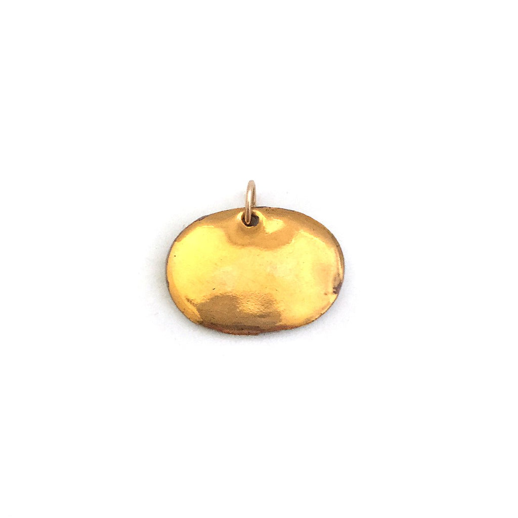 Ceramic Pendant with Gold Luster, Large