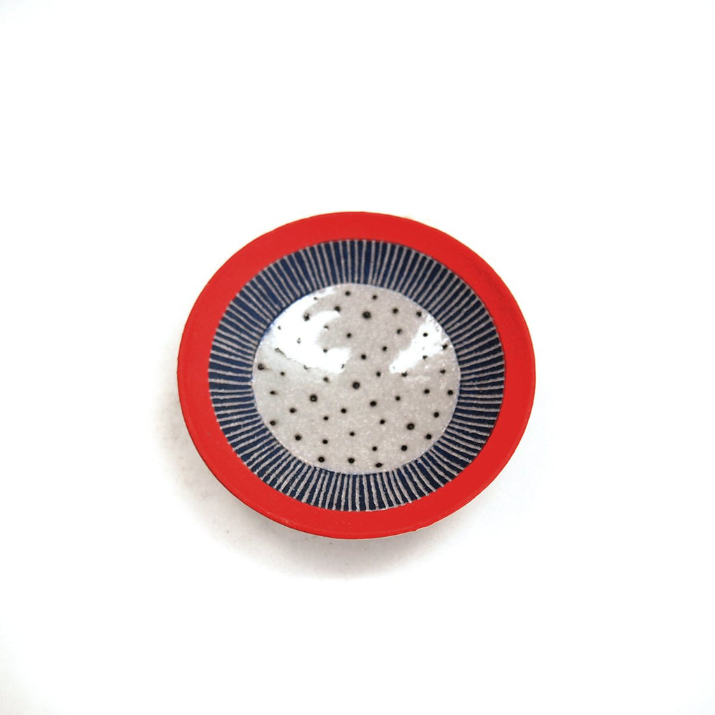 Red/Blue/Polka Dot Ring Dish