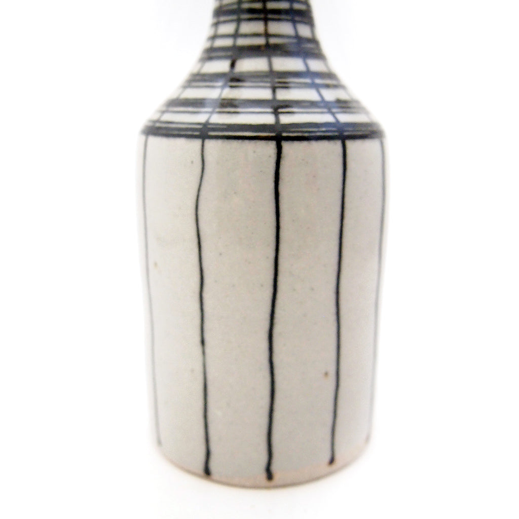 Black & White Lined Bottle Vase