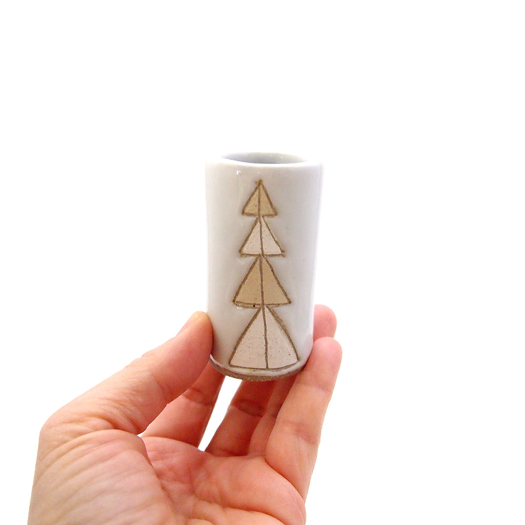 Triangles Bud Vase