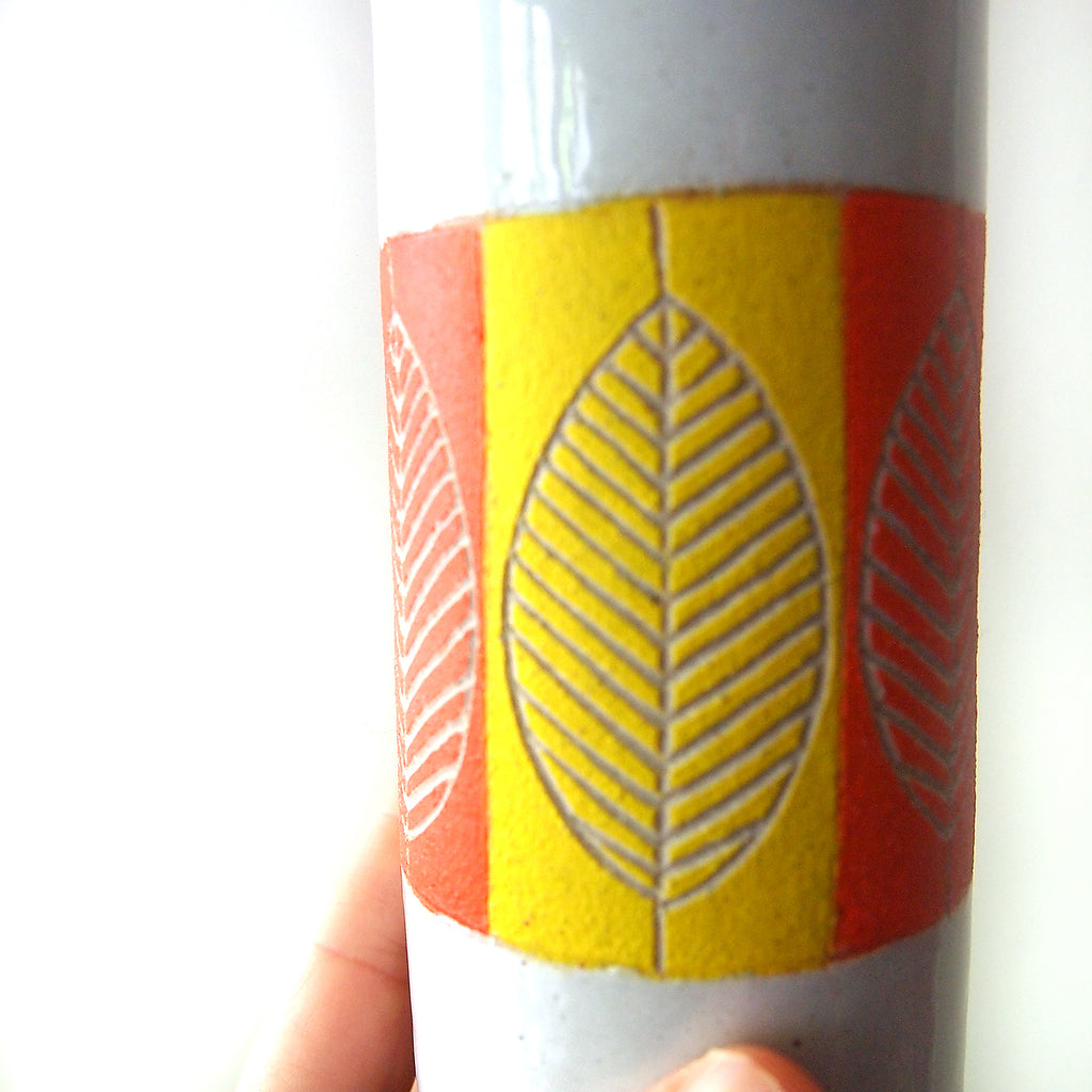 Leaf Vase, Orange & Yellow