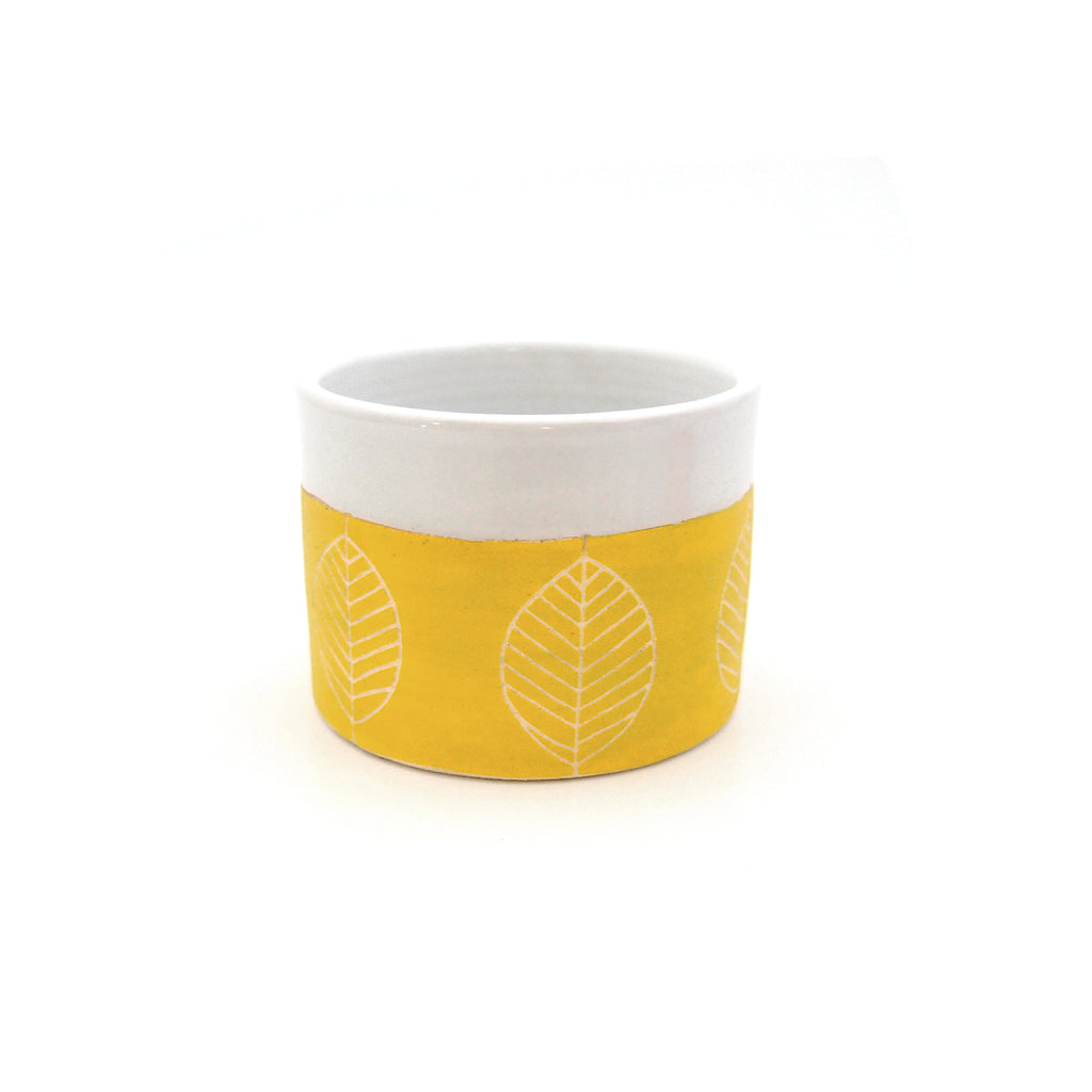 Yellow Leaf Planter/Bowl/Container