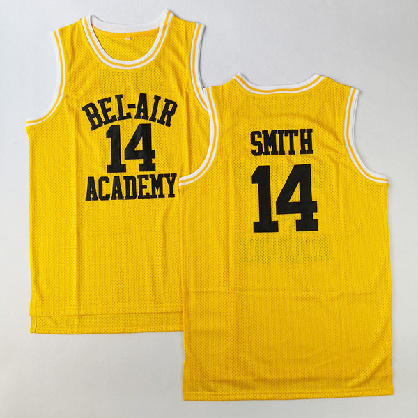 8ae3283a3efc Will Smith  14 Bel-Air Academy Basketball Jersey Fresh Prince Stitched  Yellow