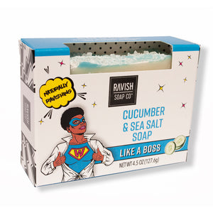 Like A Boss Cucumber Sea Salt Soap Ravish Soap Company