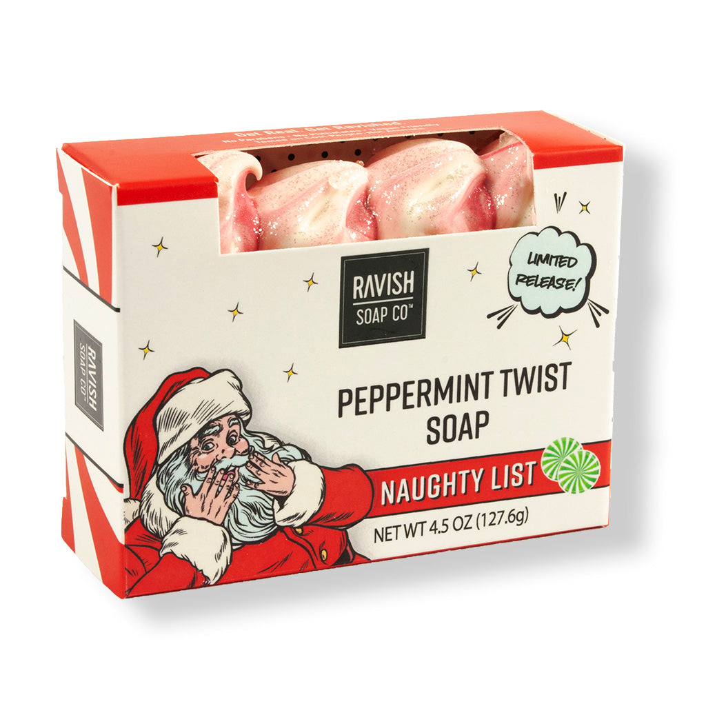 Naughty List Sweet Peppermint Soap Ravish Soap Company