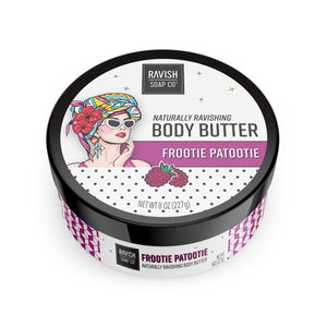 Frootie Patootie Raspberry Hibiscus body butter Ravish Soap Company