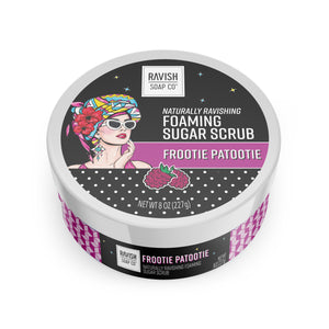 Frootie Patootie Raspberry Hibiscus Foaming Sugar Scrub Ravish Soap Company