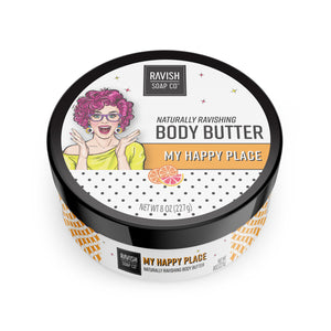 My Happy Place Tangerine Grapefruit Body Butter Scrub Ravish Soap Company
