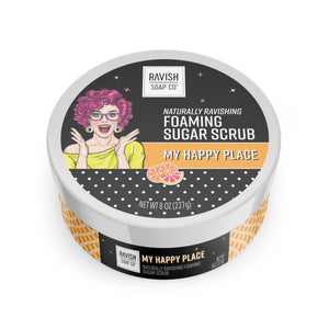 My Happy Place Tangerine Grapefruit Foaming Sugar Scrub Ravish Soap Company