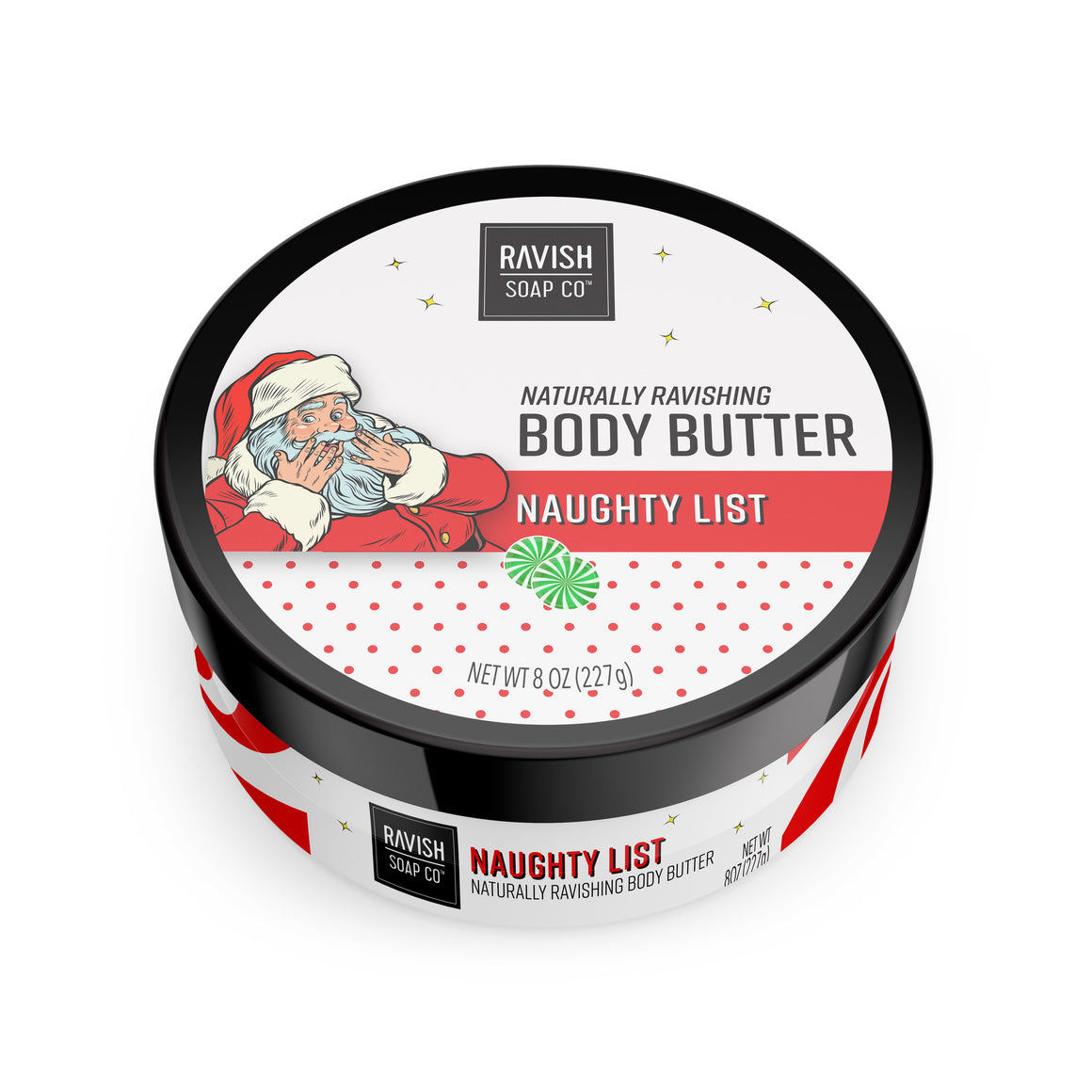 Naughty List Sweet Peppermint Body Butter Ravish Soap Company