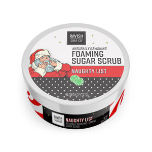 Naughty List Sweet Peppermint Foaming Sugar Scrub Ravish Soap Company