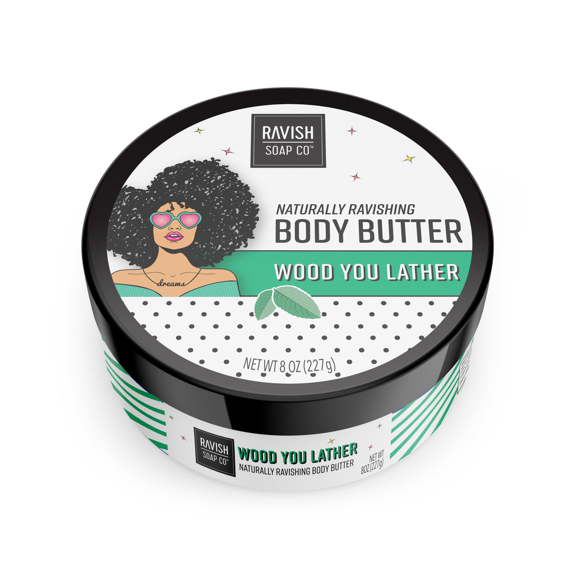 Wood You Lather Mint Chamomile Body Butter Ravish Soap Company