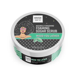 Wood You Lather Mint Chamomile Foaming Sugar Scrub Ravish Soap Company