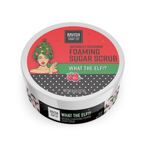 What The Elf Cranberry and Yuzu Foaming Sugar Scrub Ravish Soap Company
