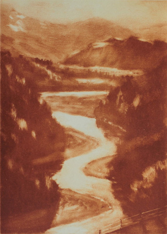 Philip Beadle-Down by the Shotover River. Limited Edition Solarprint