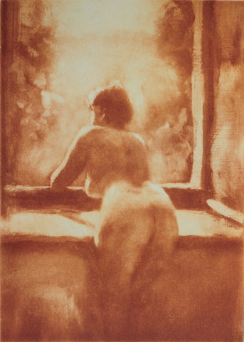 Philip Beadle Nude at the Window. Limited Edition Solarprint