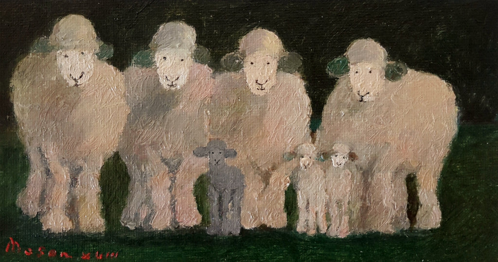 Malcolm Mason-Sheep and lambs