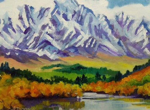 Annette Dickison-The Remarkables with Lake Wakatipu