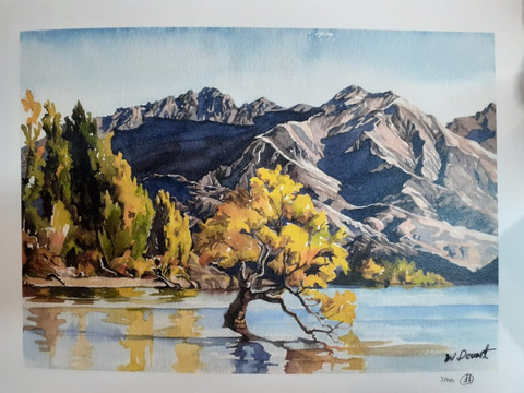 Wonhee Deuart-The lone tree Wanaka