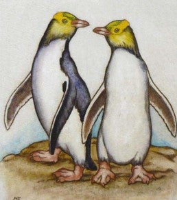 Mary Taylor-Yellow Eyed Penguins