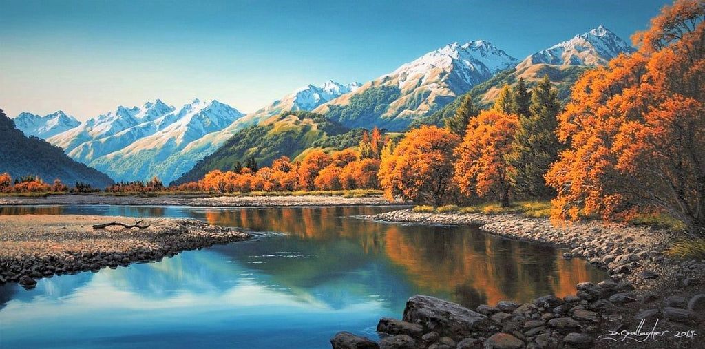 Dale Gallagher-The Rees River Autumn . Glenorchy
