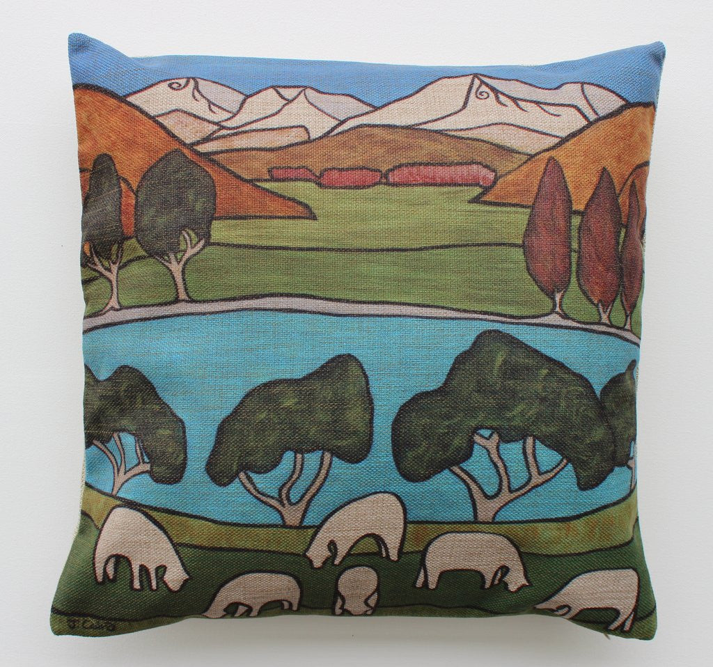 M.J.C Green Pastures Cushion Covers