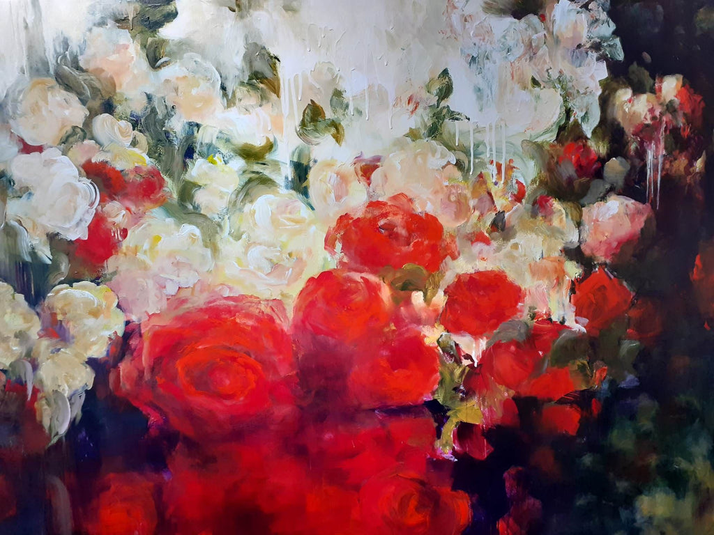 "Jane De France-""Observer at the Flower Gallery"""