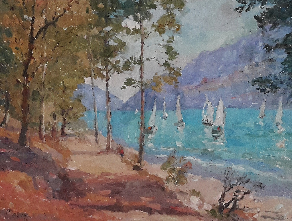 Malcolm Mason-Sailing on Lake Wakatipu Queenstown.