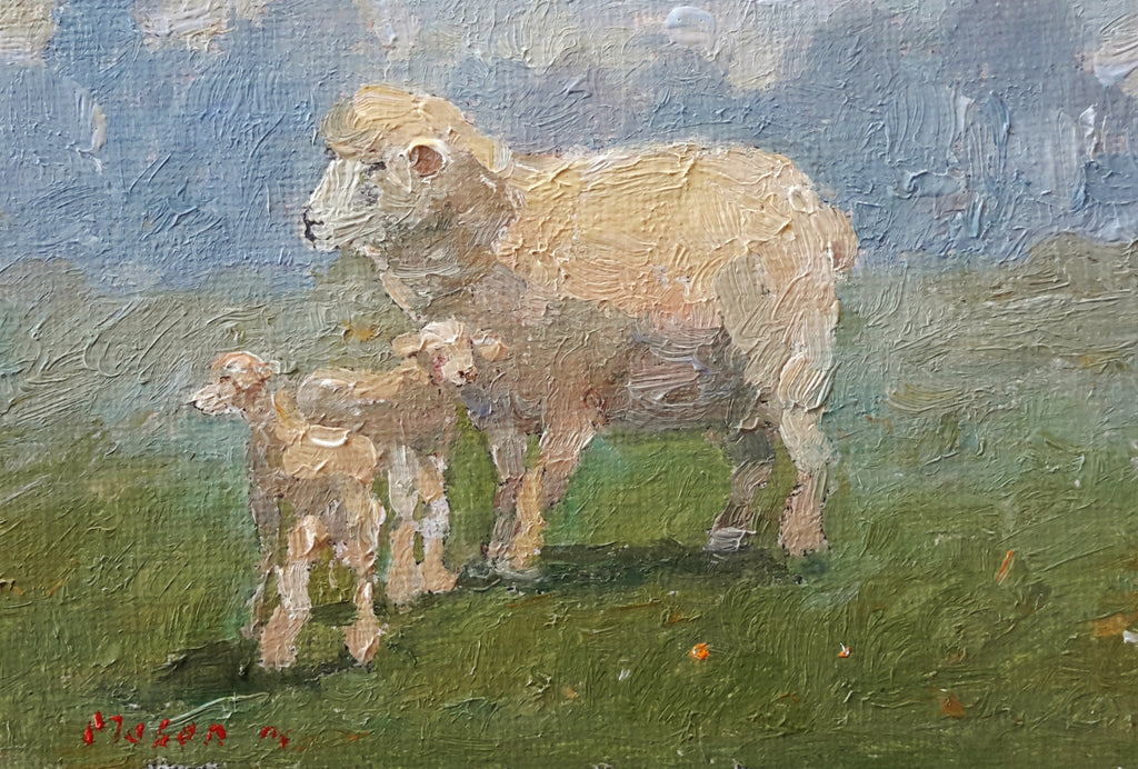 Malcolm Mason-2 Lambs and a Sheep