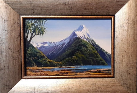 Tony Roche-3720 Mitre Peak with Cabbage Tree.