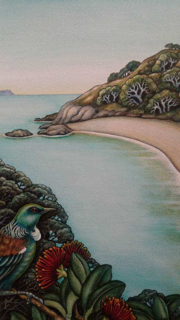 Mary Taylor-Tui at the Beach