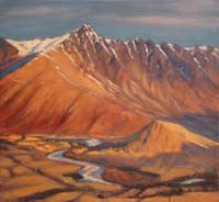 Philip Beadle- Winter Afternoon Light on the Remarkables