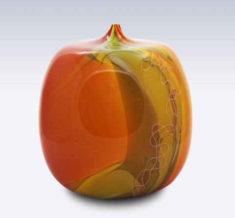 2400 Fahrenheit Art Glass Autumn Series Closed Form