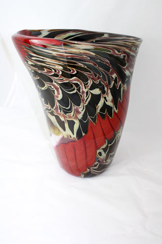 Christopher Morrison Glass Large Ribbon Vase