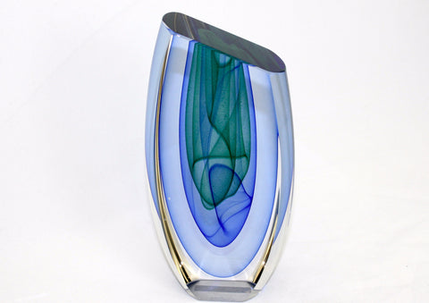 Edward Kachurik Art Glass Lyra Sculpture I55