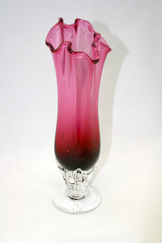 Glassworks Handkerchief Pink Vase