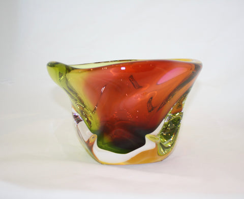 Harrie Art Glass Autumn Thick Bowl