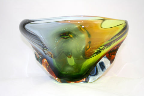 Harrie Art Glass Exotic Thick Bowl