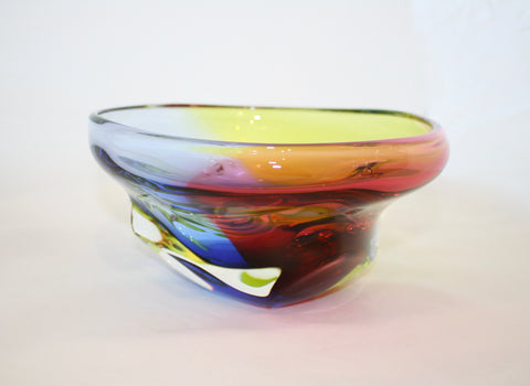 Harrie Art Glass Kaleido Thick Bowl