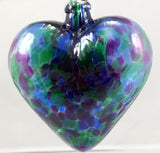 Glass Eye Studio Classic Blue Mosaic Chip Heart Ornament