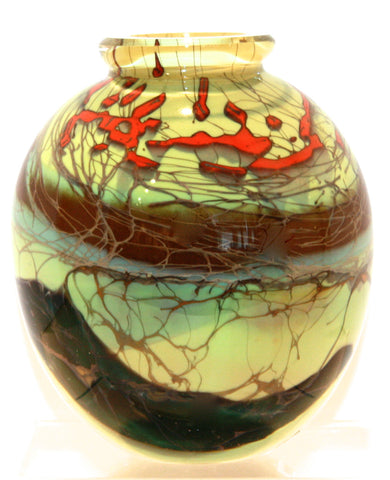 Steve Main Glass Studio Forest Series Round Vase