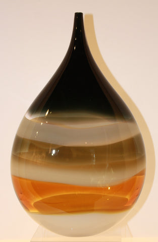 United Glass Blowers Small T Drop Vase