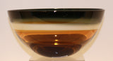 United Glass Blowers Amber Low Bowl