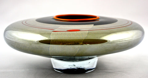 Studio Paran Art Glass Black Hana Ikebana