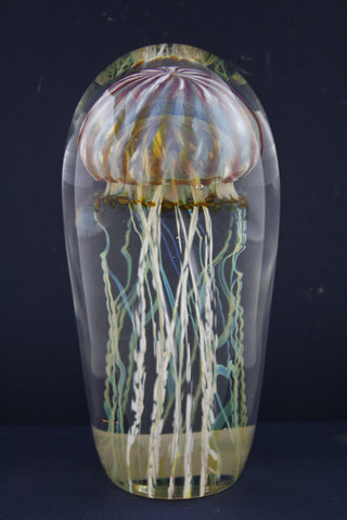 Satava Art Glass Passion Jellyfish