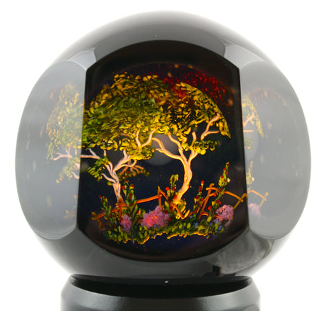 Mayauel Ward Art Glass Tree Light Sculpture