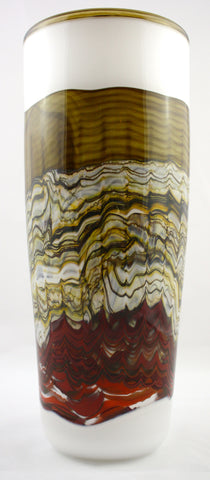 Gartner/Blade Art Glass Sargasso Series Cylindric Vase