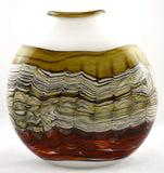 Gartner/Blade Art Glass Sargasso Series Flattened Vase